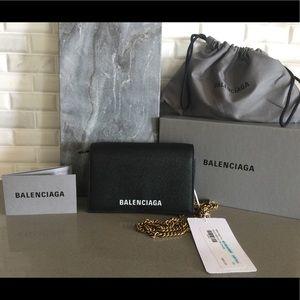 BALENCIAGA VILLE PHONE WALLET ON CHAIN